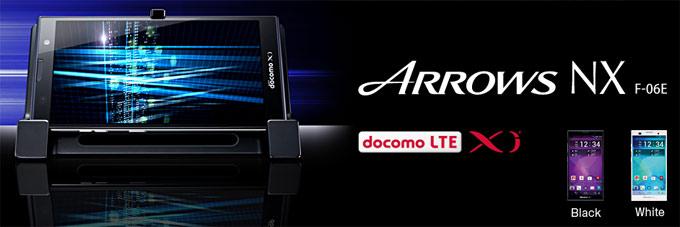 японский смартфон fujitsu docomo f-06e arrows nx