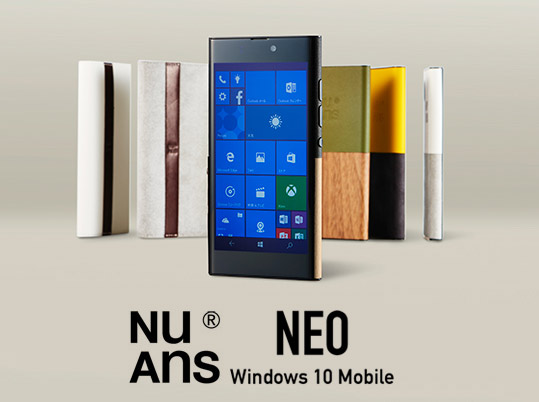 Японский Windows 10 Mobile смартфон Nuans NEO