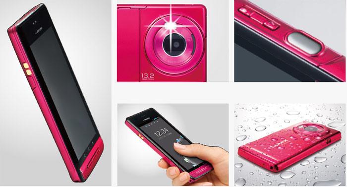 японские смартфоны Panasonic Lumix Phone P-02D