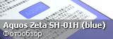 Фотообзор Sharp Aquos Zeta SH-01H в синем цвете