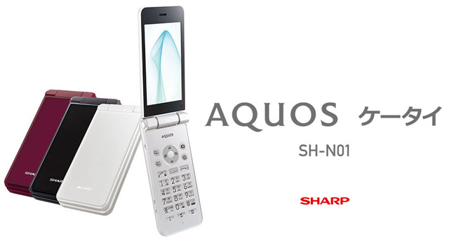 Японская SIM-free Android раскладушка Sharp AQUOS K-tai SH-N01