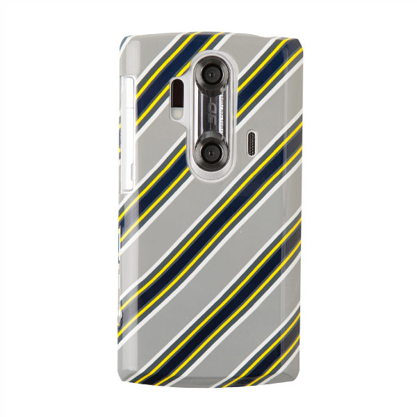 чехлы iFeather Graphic Pattern Print Case for AQUOS SH-12C Strip Gray