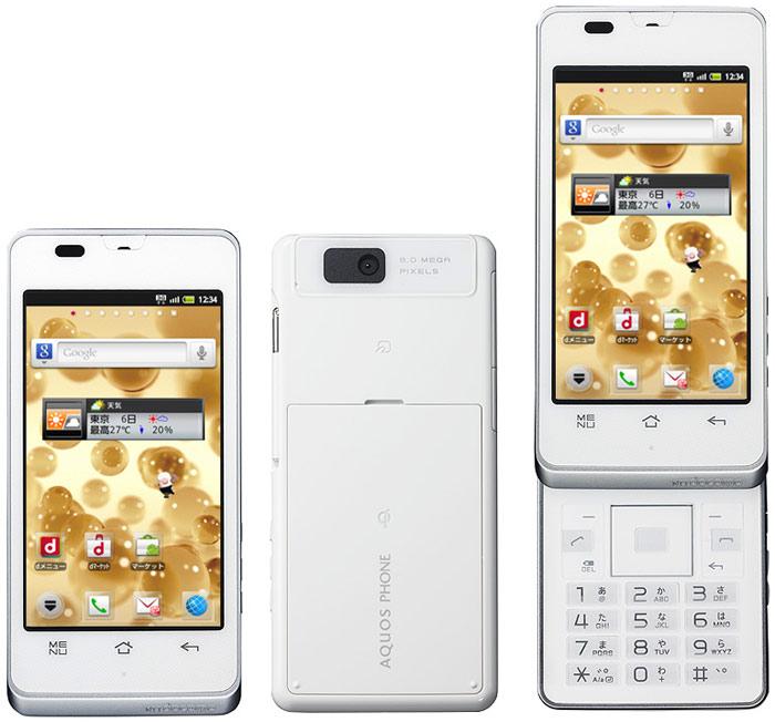 японские телефоны Sharp Docomo SH-02D Aquos Phone slider