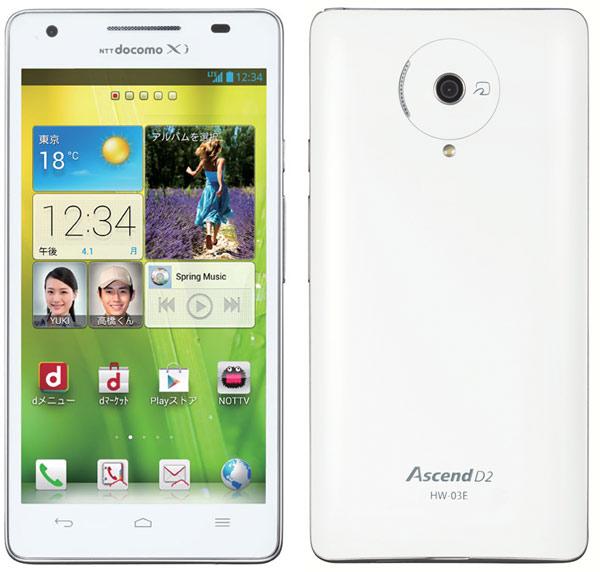 смартфон Huawei Docomo HW-03E Ascend D2 сертифицирован FCC