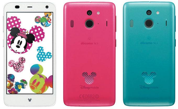 Японский смартфон Fujitsu Docomo F-03F Disney Mobile поступит в продажу 13 декабря