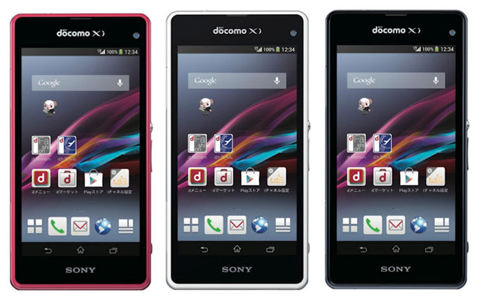 японский смартфон Sony docomo so-02f xperia z1 f