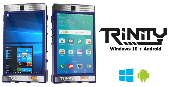 Trinity Smartphone PC: Windows 10+Android в одном устройстве