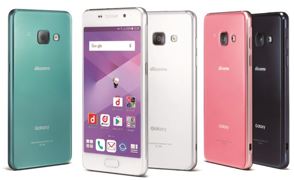 Samsung Galaxy Feel SC-04J в новом цвете Aurora Green