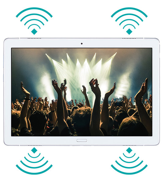 NEC LAVIE Tab E TE510/JAW: 10-дюймовый планшет с 4 динамиками